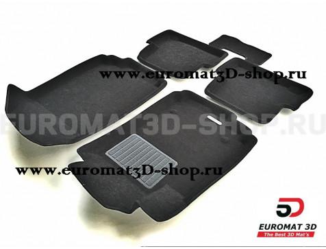 Текстильные 3D коврики Euromat3D Business в салон для Chevrolet Aveo (2012-) № EMC3D-001501