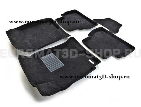Текстильные 3D коврики Euromat3D Business в салон для Chevrolet Epica (2006-) № EMC3D-001505