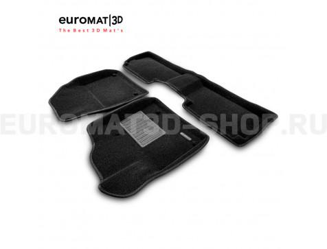 Текстильные 3D коврики Euromat3D Business в салон для Citroen C5 (2008-) № EMC3D-001712