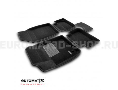 Текстильные 3D коврики Euromat3D Business в салон для Ford Fiesta (2010-) № EMC3D-002213