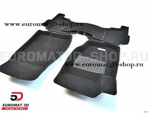 Текстильные 3D коврики Euromat3D Business в салон для Jeep Grand Cherokee (2006-2010) № EMC3D-002761