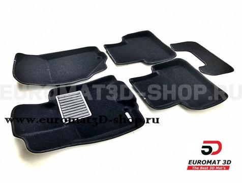 Текстильные 3D коврики Euromat3D Business в салон для Infiniti EX (2008-2014) № EMC3D-002808