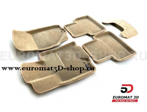 Текстильные 3D коврики Euromat3D Business в салон для Infiniti EX (2008-2014) № EMC3D-002808T Бежевые