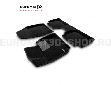 Текстильные 3D коврики Euromat3D Business в салон для Kia Cerato (2013-2018) № EMC3D-002921
