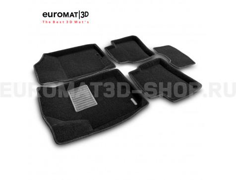 Текстильные 3D коврики Euromat3D Business в салон для Kia Ceed (2006-2012) № EMC3D-002722