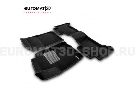 Текстильные 3D коврики Euromat3D Business в салон для Lexus GX460 (2010-2014) № EMC3D-005115