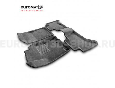 Текстильные 3D коврики Euromat3D Business в салон для Lexus GX460 (2010-2014) № EMC3D-005115G Серые