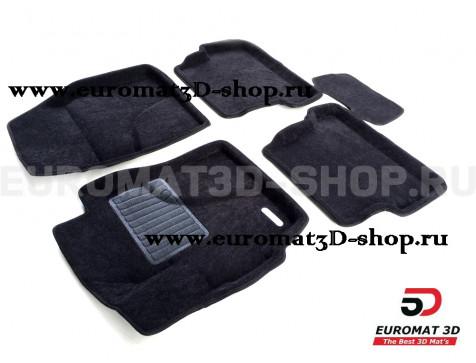 Текстильные 3D коврики Euromat3D Business в салон для Mazda 3 (2003-2009) № EMC3D-003402