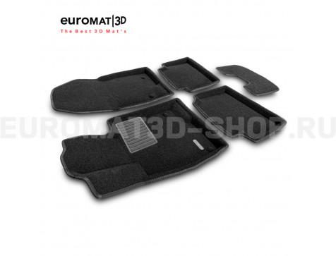 Текстильные 3D коврики Euromat3D Business в салон для Mazda 3 (2014-2018) № EMC3D-003411