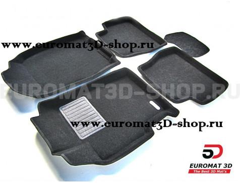 Текстильные 3D коврики Euromat3D Business в салон для Mazda 6 (2003-2007) № EMC3D-003405