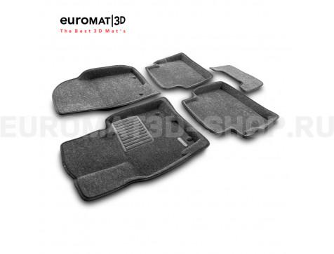 Текстильные 3D коврики Euromat3D Business в салон для Mazda CX-5 (2012-2016) № EMC3D-003407G Серые