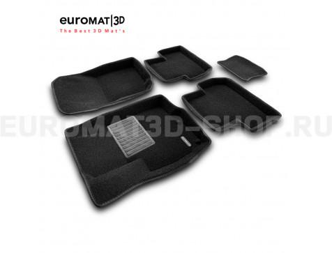 Текстильные 3D коврики Euromat3D Business в салон для Mitsubishi ASX (2010-) № EMC3D-003600