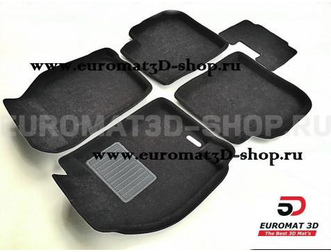 Текстильные 3D коврики Euromat3D Business в салон для Mitsubishi Lancer 9 № EMC3D-003613