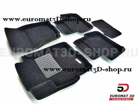 Текстильные 3D коврики Euromat3D Business в салон для Mitsubishi Lancer 10 (2007-) № EMC3D-003606