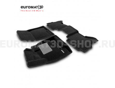 Текстильные 3D коврики Euromat3D Business в салон для Mitsubishi Pajero IV (2006-2020) № EMC3D-003610