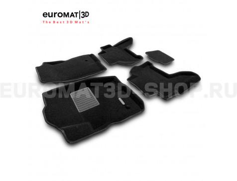 Текстильные 3D коврики Euromat3D Business в салон для Nissan Pathfinder (R51) (2004-2014) № EMC3D-003710