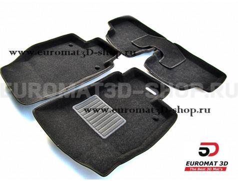 Текстильные 3D коврики Euromat3D Business в салон для Opel Astra H (2007-) № EMC3D-003802