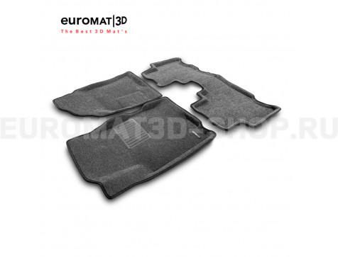 Текстильные 3D коврики Euromat3D Business в салон для Opel Antara (2007-2016) № EMC3D-003816G Серые