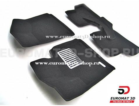 Текстильные 3D коврики Euromat3D Lux в салон для Audi A3 (2008-2013) № EM3D-001100