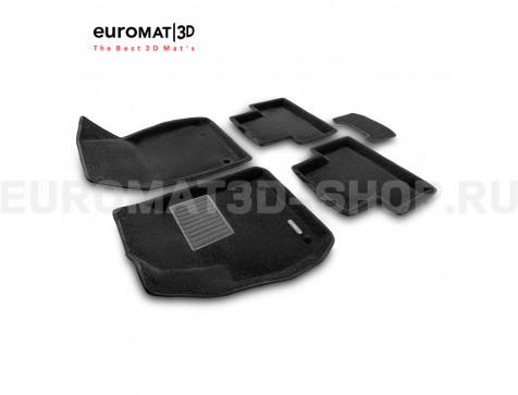 Текстильные 3D коврики Euromat3D Business в салон для Opel Zafira C (2012-) № EMC3D-003814