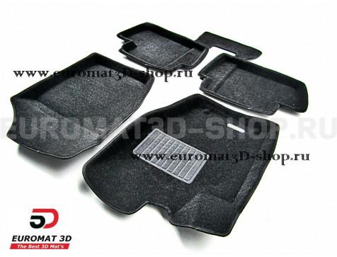 Текстильные 3D коврики Euromat3D Business в салон для Peugeot 408 (2012-) № EMC3D-003909