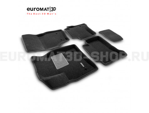 Текстильные 3D коврики Euromat3D Business в салон для Porsche Cayenne (2002-2009) № EMC3D-004100