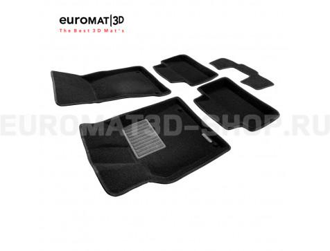 Текстильные 3D коврики Euromat3D Business в салон для Porsche Macan (2014-) № EMC3D-004103