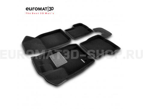 Текстильные 3D коврики Euromat3D Business в салон для Renault Duster (2011-2014) № EMC3D-004200