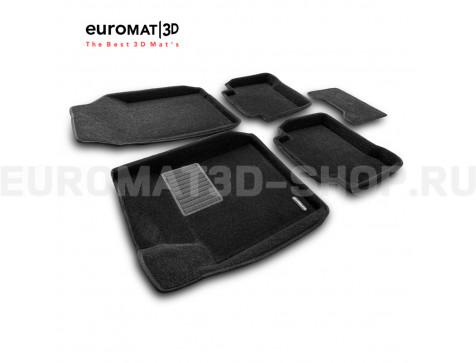 Текстильные 3D коврики Euromat3D Business в салон для Renault Latitude (2010-) № EMC3D-003718