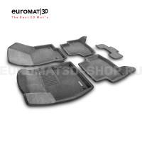 Текстильные 3D коврики Euromat3D Business в салон для Skoda Octavia A7 (2013-2020) № EMC3D-004507G Серые