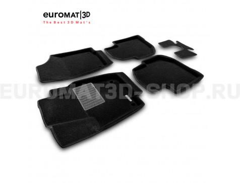 Текстильные 3D коврики Euromat3D Business в салон для Skoda Rapid (2014-2019) № EMC3D-004508