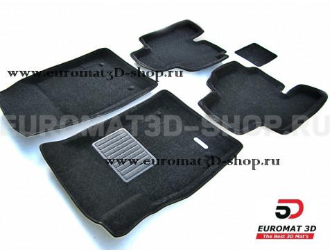 Текстильные 3D коврики Euromat3D Business в салон для SsangYong Kyron (2006-) № EMC3D-004603