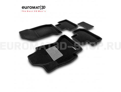 Текстильные 3D коврики Euromat3D Business в салон для Subaru Forester (2012-2018) № EMC3D-004709