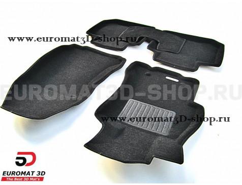 Текстильные 3D коврики Euromat3D Business в салон для Subaru XV (2012-2016) № EMC3D-004706