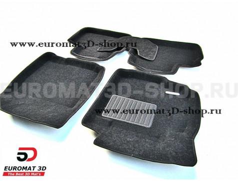 Текстильные 3D коврики Euromat3D Business в салон для Suzuki Sх4 (2006-2014) № EMC3D-004810