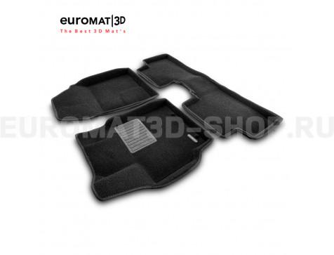 Текстильные 3D коврики Euromat3D Business в салон для Toyota Auris (2007-2012) № EMC3D-005107
