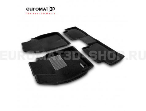 Текстильные 3D коврики Euromat3D Business в салон для Toyota Auris (2013-2018) № EMC3D-005133