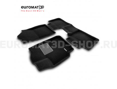 Текстильные 3D коврики Euromat3D Business в салон для Toyota Camry V40 (2006-2011) № EMC3D-005104