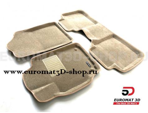 Текстильные 3D коврики Euromat3D Business в салон для Toyota Camry V40 (2006-2011) № EMC3D-005104T Бежевые