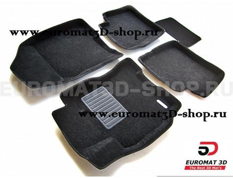 Текстильные 3D коврики Euromat3D Business в салон для Toyota Prius 20 (2003-2009) № EMC3D-005129