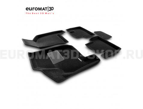 Текстильные 3D коврики Euromat3D Business в салон для Lada Priora (2007-) № EMC3D-005307