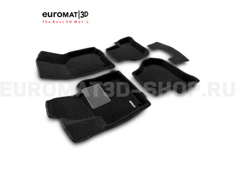 Текстильные 3D коврики Euromat3D Business в салон для Volkswagen Golf 5 (2003-2009) № EMC3D-004502