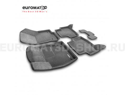 Текстильные 3D коврики Euromat3D Business в салон для Volkswagen Golf 7 (2013-) № EMC3D-004507G Серые