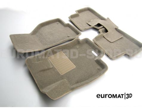 Текстильные 3D коврики Euromat3D Business в салон для Volkswagen Golf 7 (2013-) № EMC3D-004507T Бежевые