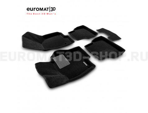 Текстильные 3D коврики Euromat3D Business в салон для Volkswagen Jetta (2010-2018) № EMC3D-005414