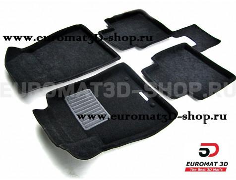 Текстильные 3D коврики Euromat3D Business в салон для Nissan Sentra (2014-) (B17) № EMC3D-003725