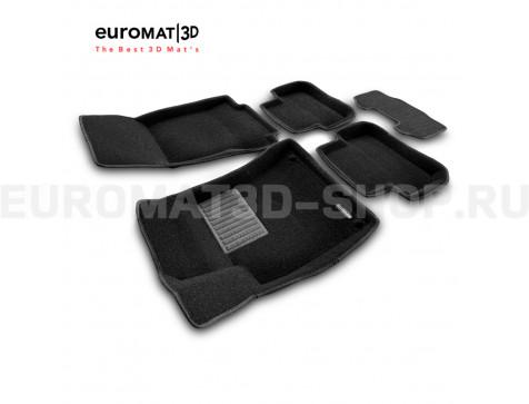 Текстильные 3D коврики Euromat3D Business в салон для Mercedes CLA-Class (C117) (2013-2018) № EMC3D-003516