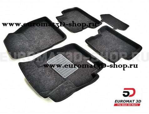 Текстильные 3D коврики Euromat3D Business в салон для Mazda 3 (2009-2013) № EMC3D-003412