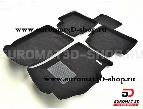 Текстильные 3D коврики Euromat3D Business в салон для Mazda 6 (2007-2013) № EMC3D-003413