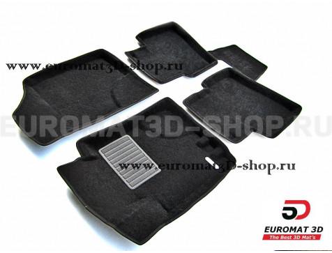 Текстильные 3D коврики Euromat3D Business в салон для Hyundai i20 (2009-2016) № EMC3D-002730
